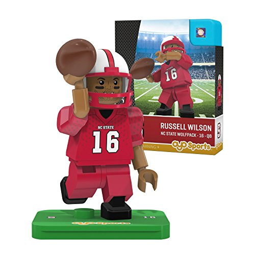 NCAA North Carolina State Wolfpack Russell Wilson Gen 2 Player Mini Figure, Small, Black by OYO