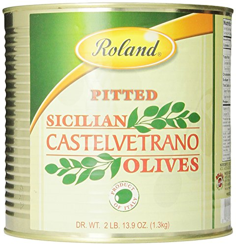 Roland Sicilian Castelvetrano Olives, Pitted,2 lb and 13.9 oz