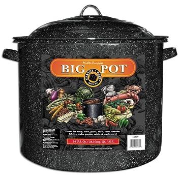 Granite Ware 34-Quart Stock Pot, Black