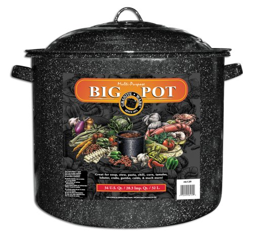 (Granite Ware 34-Quart Stock Pot, Black)