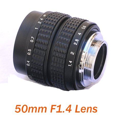 Fotasy L5014 50MM F1.4 TV Lens for Sony NEX/Panasonic/Olympus MFT M4/3 and Fuji FX Cameras - Fixed