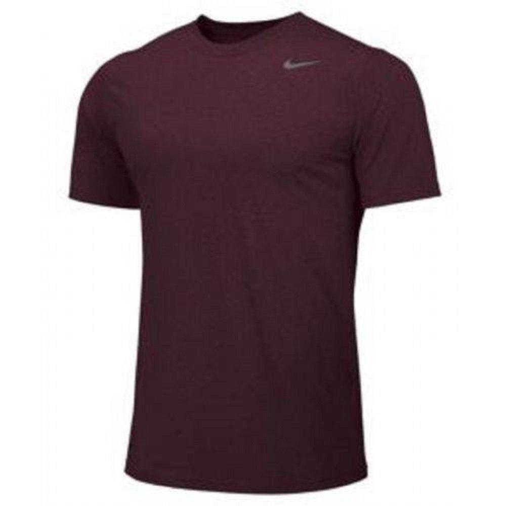 Nike Youth Boys Legend Short Sleeve Tee Shirt (Youth Medium, Maroon)