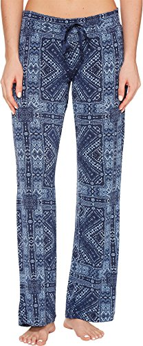 P.J. Salvage Women's Blue Batik Paisley Lounge Pants Navy Pants
