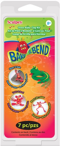 Bend Clay (Sculpey Clay Kit 1 Ounce 6/Pkg-Bake & Bend)
