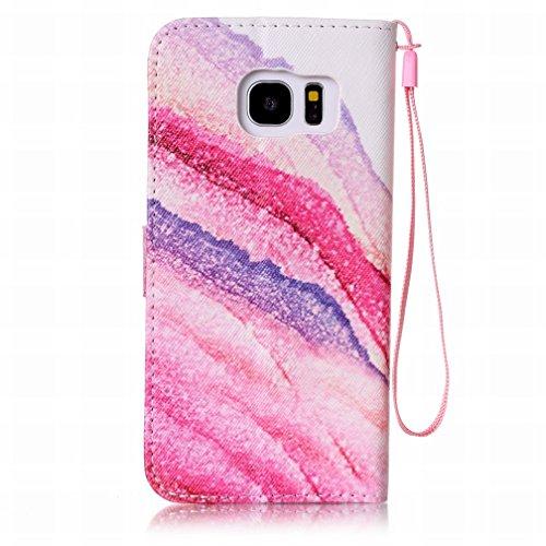Yiizy Samsung Galaxy S7 Edge G935 Funda, Arco Iris Diseño Solapa Flip Billetera Carcasa Tapa Estuches Premium PU Cuero Cover Cáscara Bumper Protector Slim Piel Shell Case Stand Ranura para Tarjetas Es