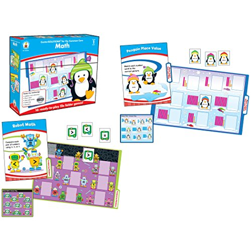 Carson-Dellosa CD-140306 Math File Folder Game, Grade 1, 16 Games, 20 Sheets of Cards (Pack of 36)