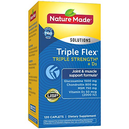Nature Made TripleFlex Triple Strength with Vitamin D3 Caplet (Glucosamine Chondroitin MSM)  120 ()