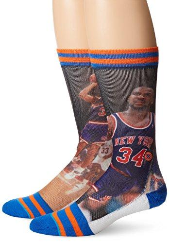 Stance Men's Starks Oakley New York Knicks, Blue, Sock Size:10-13/Shoe Size: 6-12