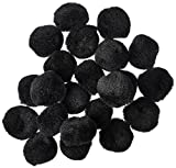 "Arts & Crafts : Pom Poms 1"" 40/Pkg-Black"