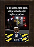 EMS Daughters By Todd Thunstedt 23.5x17.5 Patriotic EMT Emergency Medical Technician Services Dispatcher Nurse Doctor Prayer CPR Flight Medic Daughter Framed Art Print Wall Décor Picture