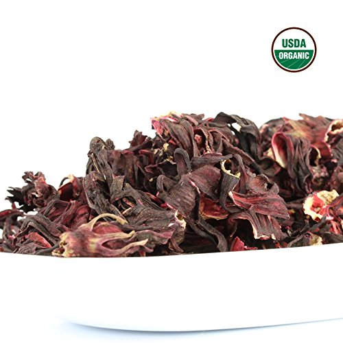 Hibiscus Tea 1LB (16Oz) 100% CERTIFIED Organic Hibiscus Flowers Herbal Tea (WHOLE PETALS), Caffeine Free in 1 lbs. Bulk Resealable Kraft BPA free Bags from U.S. Wellness by U.S. Wellness Naturals (Image #4)