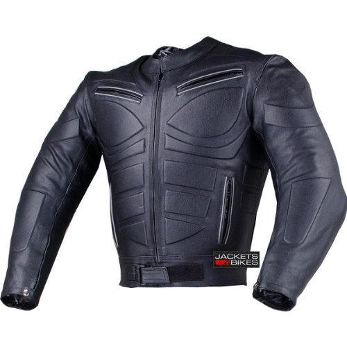 (Men's Blade Motorcycle Riding Leather Armor Biker Ventilated Jacket Black L )