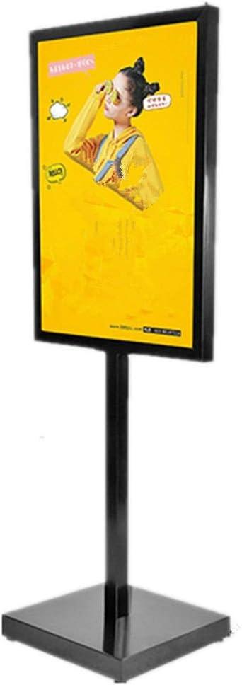 スタンドボード 案内板 ボードの表示スタンドサインスタンドフレームのポスター交換可能な広告のラックサインが活動表示のためのスタンド(ブラック) 掲示板 (Color : Black, Size : 50 x 70cm)