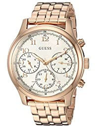 GUESS Women's Quartz Stainless Steel Casual Watch, Color:Rose Gold-Toned (Model: U1018L3)