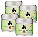 4 Pack of UMAMI MATCHA Green Tea | Ceremonial Grade Japanese Matcha Tea Powder | 1st Harvest | All Natural | (1oz/30g tin) - 4 Pack