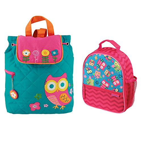 (Stephen Joseph Girls Quilted Owl Backpack and Owl Print Lunch Box )