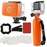 CamKix W9RB0 GoPro Accessory Bundle including Bobber, Removable Floaty, Anti-Fog Inserts, Thumbscrew, Wrist Strap for GoPro Hero 4 / Hero+ LCD / 3+ / 3 / 2 / 1 (Orange)
