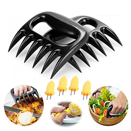 LifeGnt Meat Claws ,Bear Claws Meat Shredder With 4pcs Corn Holders. Really Helpful for Cutting Meat While Barbecuing, Easily Handle, Shred and Cut Meats(Pack of 2 ) by LifeGnt