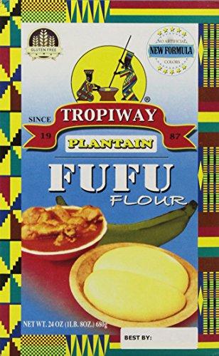 Plantain Fufu Flour 24oz by TROPIWAY PLANTAIN FUF FLOUR