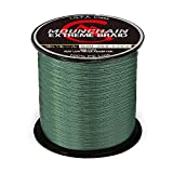 Mounchain Braided Fishing Line Abrasion Resistant Braided Lines 4 Strands Super Strong PE Fishing Line 547 Yards 30lb Dark Green