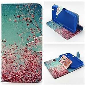 Cerezos en flor patrón cubierta del cuerpo completo con ranura para tarjeta para la tendencia de Samsung 3 G3500 / g355h / g357 / G360 / ( Modelos Compatibles : Galaxy Core )