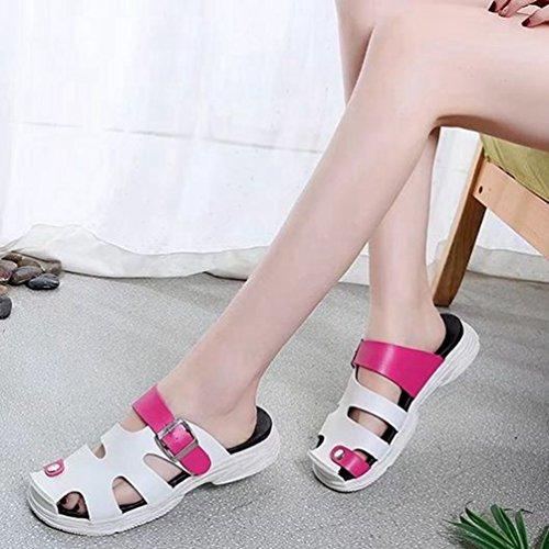 Femmes Forme Forme de de Plates de de Forme Plate Mode Sandales de d'athlétisme des Rose de Glissement Glissière de d'été Mode la extérieure Plate de Rouge Plate Plage 84ddRnxq