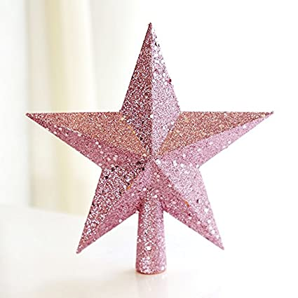 de515bf5acf5 Image Unavailable. Image not available for. Color: NACOLA Beautiful Star  Christmas Tree Topper ...