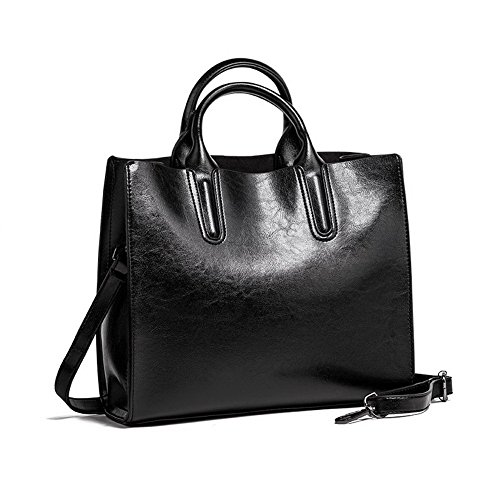 Tote Business Pu Women's Bags Black Bags Zippers Crossbody Casual AgooLar wxqOXA0vX