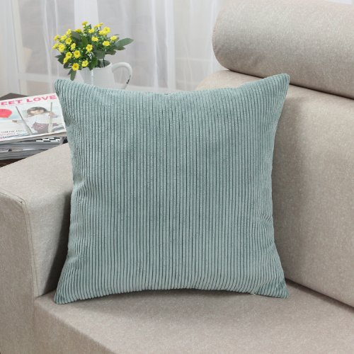 CaliTime Cushion Cover Throw Pillow Case Shell, Comfortable Soft Corduroy Striped, 18 X 18 ...