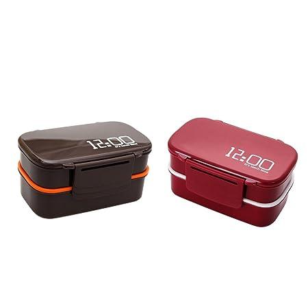 KESOTO 2 unidades de recipientes de aperitivos portátiles para ...