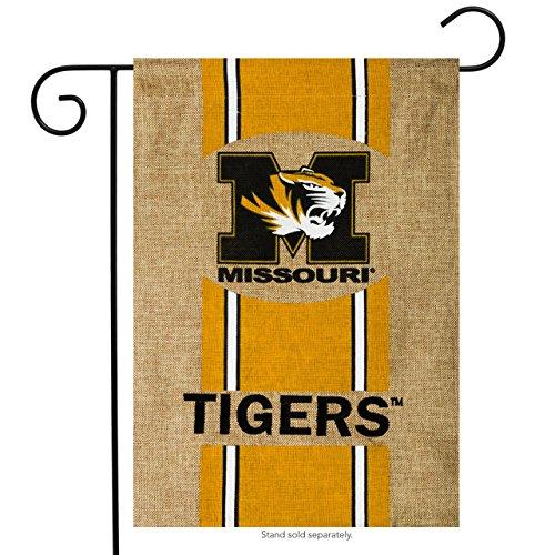 (Missouri Tigers Official NCAA 12.5 inch x 18 inch Team Burlap Garden Flag by Evergreen )