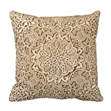 Emvency Throw Pillow Cover Alhambra Pattern Decorative Pillow Case Travel Home Decor Square 20 x 20 Inch Cushion Pillowcase