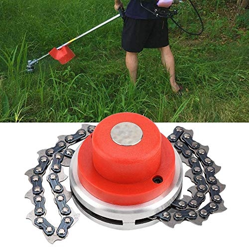 Volwco 65Mn Garden Lawn Trimmer Head Chain-Nylon Multi-Functional Grass Head Chain Brush Cutter Lawn Mower Replacement Part Accessory