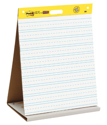 """Post-it Tabletop Easel Pad, 20"""" x 23"""", Primary Lined"""