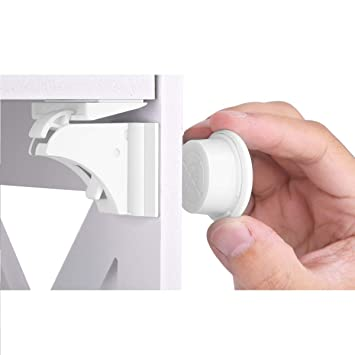 Invisible Magnetic Baby Child Proof Cupboard Door Drawer Safety Lock Key x 2