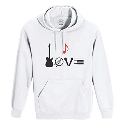 Roly Sudadera Blanca uomo-Donna Unisex Fruit of The Loom – Love Musical, Unisex