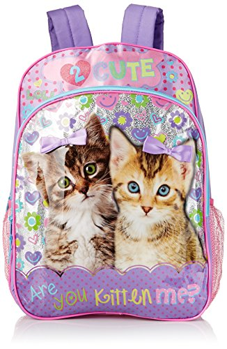 Underrated Girls' Cute Kitten/Puppy Backpack, Purple (First Day Of 1st Grade Sign 2017)