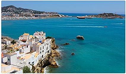España Costa isla cala Ibiza Islas Baleares ciudades sitios de viajes postal Post tarjeta: Amazon.es: Oficina y papelería