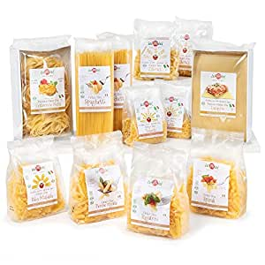 isiBisi Gluten Free Pasta Sampler - Rice and Corn Flour - Made in Italy (140oz - 12 Pack)