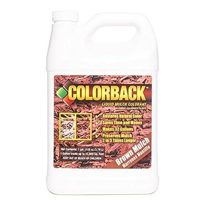 COLORBACK 12,800 Sq. Ft. Mulch Color Concentrate, 1-Gallon, Brown