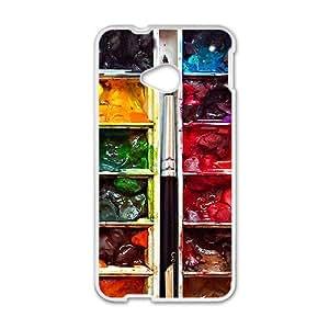 Watercolor Art White htc m7 case