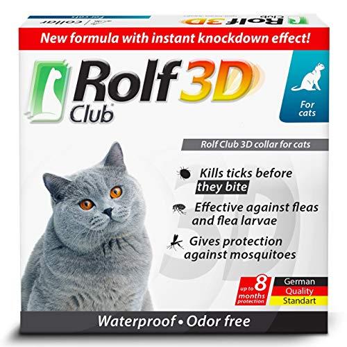 Rolf Club 3D FLEA Collar for Cats - Flea and Tick Prevention for Cats - Cats Flea and Tick Control...