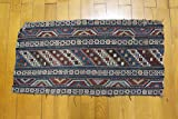 Antique Rug Piece - Old Cradle Cover from 1900's - Decorative Rug Piece - Knitted Traditional Rug Piece - Cucasian Rug Piece