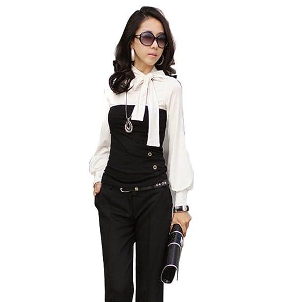 Japan Style de missis Shop boho Style Blusa 2 en 1 aspecto túnica Long Camiseta con
