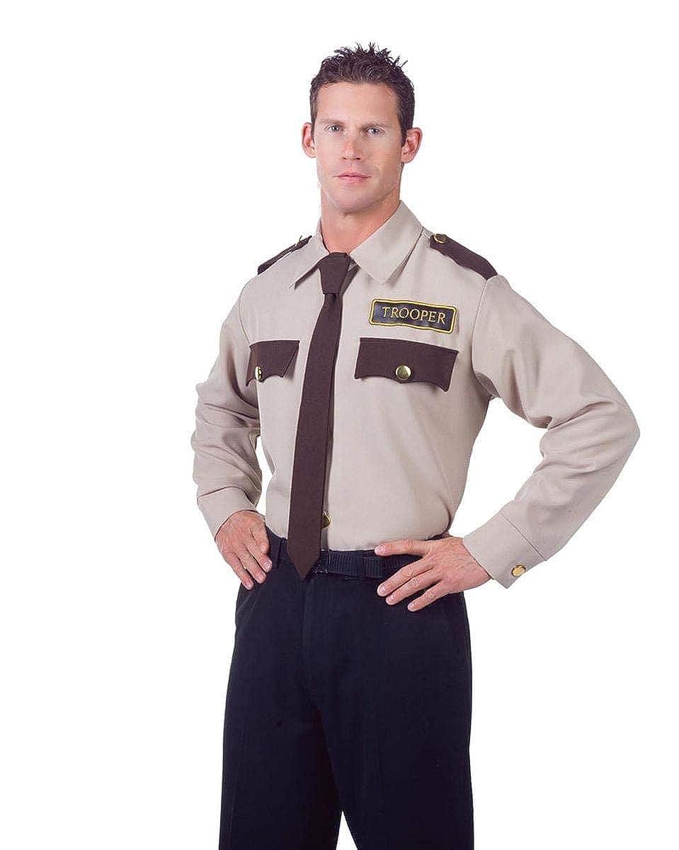 Amazon.com: Disfraz Trooper Policía uniforme camisa adulto ...