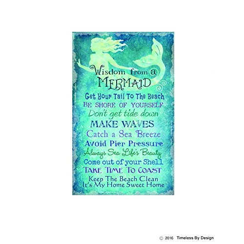 Advice From A Mermaid Printed Canvas Wall Hanging (Mermaid - Decor Mermaids