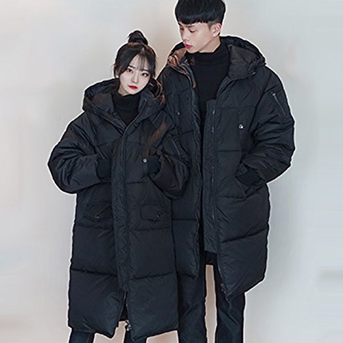 Generic Couple cotton 2018 new Korean wave thick padded hooded loose temperament lovers for women girl