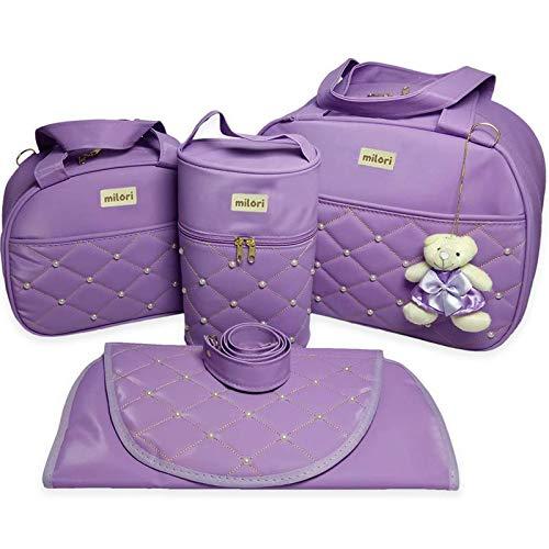 Kit com 4 Bolsas de Maternidade Pérola - Térmico Impermeável - Lilás