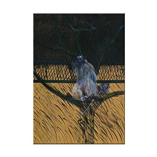 PHhomedecor Famoso Artista Francis Bacon Abstracto Figura Girando Lienzo Pintura Cartel E Impresion para Decoracion De Sala De Estar Decoracion De Arte De Pared,50X70Cm Sin Marco,A-429
