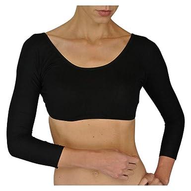 706332f0932afe Sleevey Wonders Basic 3 4 Sleeve Jersey (Black) at Amazon Women s Clothing  store